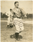 "Lou Gehrig Signed and Inscribed 7"" x 9"" Original PSA Type I Photograph (Beckett NM-MT 8 & JSA)"