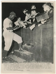 1949 Jackie Robinson Type III Photograph of Robinson Signing Autographs -PSA/DNA