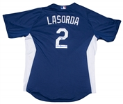 Tommy Lasorda Autographed and Worn LA Dodgers Batting Practice Jersey (PSA/DNA & Lasorda LOA)