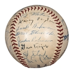 1947 National League Champion Brooklyn Dodgers Team Signed ONL Frick Baseball With 28 Signatures Including Jackie Robinson and Pee Wee Reese (Robinson First Season!) (PSA/DNA)