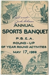 1956 Jackie Robinson Autographed P.B.E.A. Round-Up Annual Sports Banquet Program (JSA)