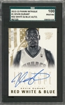 "2012/13 Panini Intrigue ""Red White & Blue"" #1 Kevin Durant Signed Card (#88/125) – SGC 100 Pristine"