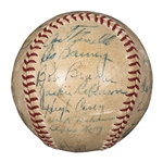 1947 Brooklyn Dodgers National League Champion Team Signed ONL Frick Baseball with 23 Signatures Including Robinson and Snider (JSA)