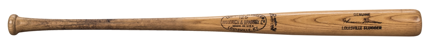 1974-1975 Thurman Munson Game Used Hillerich & Bradsby S44 Model Bat (PSA/DNA GU 10 and Bat boy Provenance)