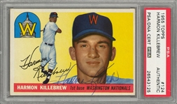 1955 Topps #124 Harmon Killebrew Signed Rookie Card - PSA Authentic