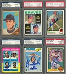 1962-1983 Topps and Donruss Hall of Famers Signed Rookie Cards Collection (6 Different) - All PSA/DNA GEM MT 10