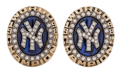 1998 New York Yankees World Series Champion 14K Gold & Diamond Cufflinks - 1 Of Only 5 Sets Ever Made!