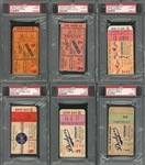 1952-1964 Mickey Mantle World Series Career Home Run Collection Of 16 Ticket Stubs (PSA/DNA)