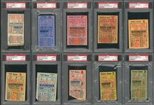 1923-2009 New York Yankees Complete Collection of (27) Championship Title Home Game Tickets (PSA/DNA)