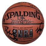 1994 Houston Rockets NBA Champions Team Signed Spalding Basketball With 13 Signatures Including Olajuwon & Tomjanovich (Beckett)