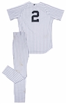 2014 Derek Jeter Game Used New York Yankees Home Uniform (Jersey and Pant) Worn on 07/27/2014 vs Blue Jays (MLB Authenticated & Steiner)