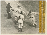 1947 Jackie Robinson Original Acme Photograph of Robinsons First Home Run