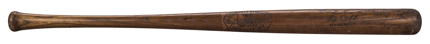 1921-28 Ty Cobb Game Used Hillerich & Bradsby Louisville Slugger Bat (MEARS A7)