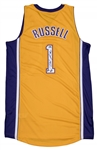 DAngelo Russell Signed Los Angeles Lakers Home Jersey (Russell COA)