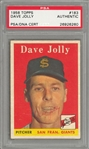 1958 Topps #183 Dave Jolly Signed Card – PSA/DNA Authentic