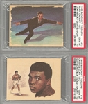 "1965 Bancroft Tiddlers ""Giants of Sports"" Cassius Clay (Muhammad Ali)/Front - PSA GEM MT 10 and Cassius Clay (Muhammad Ali)/Back - PSA GEM MT 10 (2 Items)"