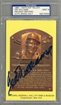 Ted Williams Signed Yellow Hall of Fame Plaque Postcard – PSA/DNA MINT 9