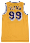 "Chevy Chase ""Fletch"" Los Angeles Lakers Yellow #99 Jersey Dual Signed by Chevy Chase and Magic Johnson (Beckett)"