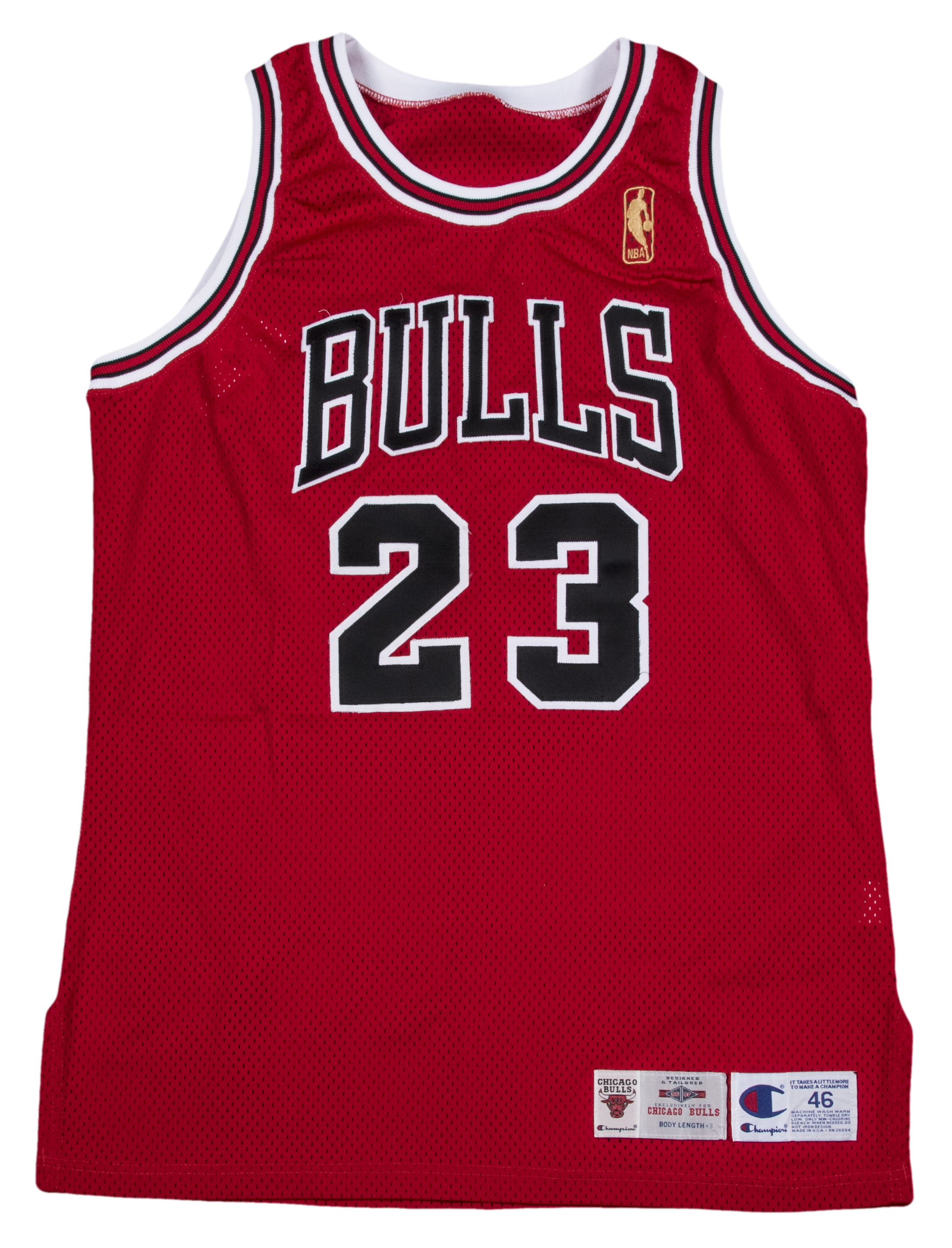 8e9e1fcca5113c 1996-97 Michael Jordan Game Used and Signed Inscribed Chicago Bulls Road  Jersey (Bulls LOA