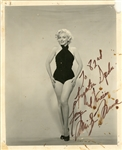 Marilyn Monroe Signed and Inscribed 8x10 Photograph Addressed to 82nd Fighter Squadron (PSA/DNA)