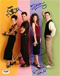 Will & Grace Cast Signed 8x10 Color Photograph with McCormack, Messing, Mullally and Hayes (PSA/DNA)