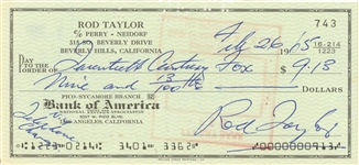 1965 Rod Taylor Signed Personal Check Dated 02/26/65 (JSA)