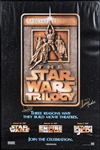 Mark Hamill & Carrie Fisher Dual Signed Star Wars Trilogy Poster in 24x36 Frame (PSA/DNA)