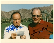 Gerald Ford and Bob Hope Dual Signed 8x10 Color Photograph (JSA)