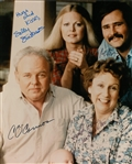 All In The Family Cast Signed 8x10 Color Photograph Signed by 4 Including OConnor, Stapleton, Reiner and Struthers (JSA)