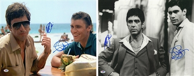 "Lot of (2) Al Pacino & Steven Bauer Dual Signed 16x20 Photographs From ""Scarface"" (PSA/DNA)"