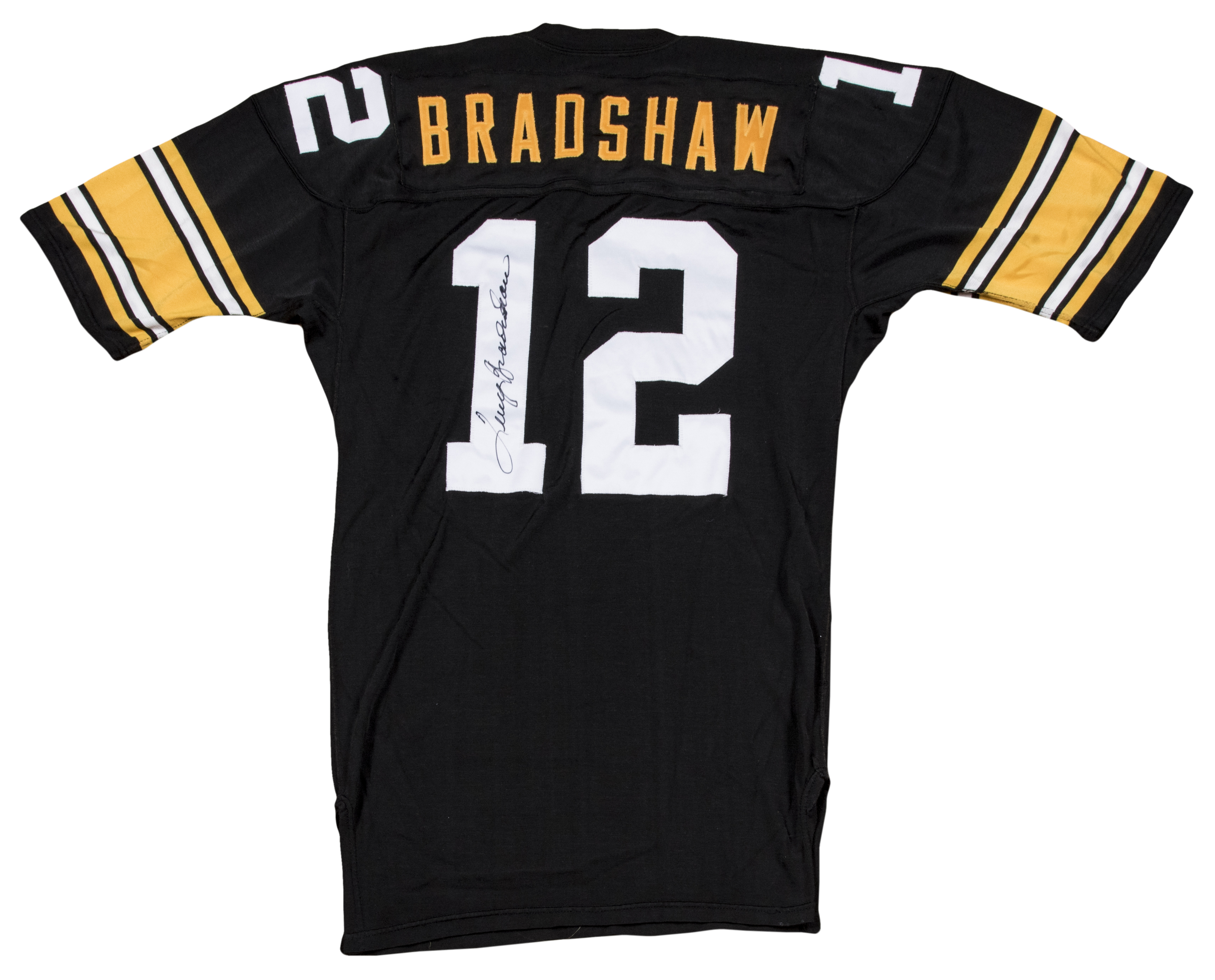 3290799d9 1975 Terry Bradshaw Game Used Pittsburgh Steelers Home Jersey (MEARS A10