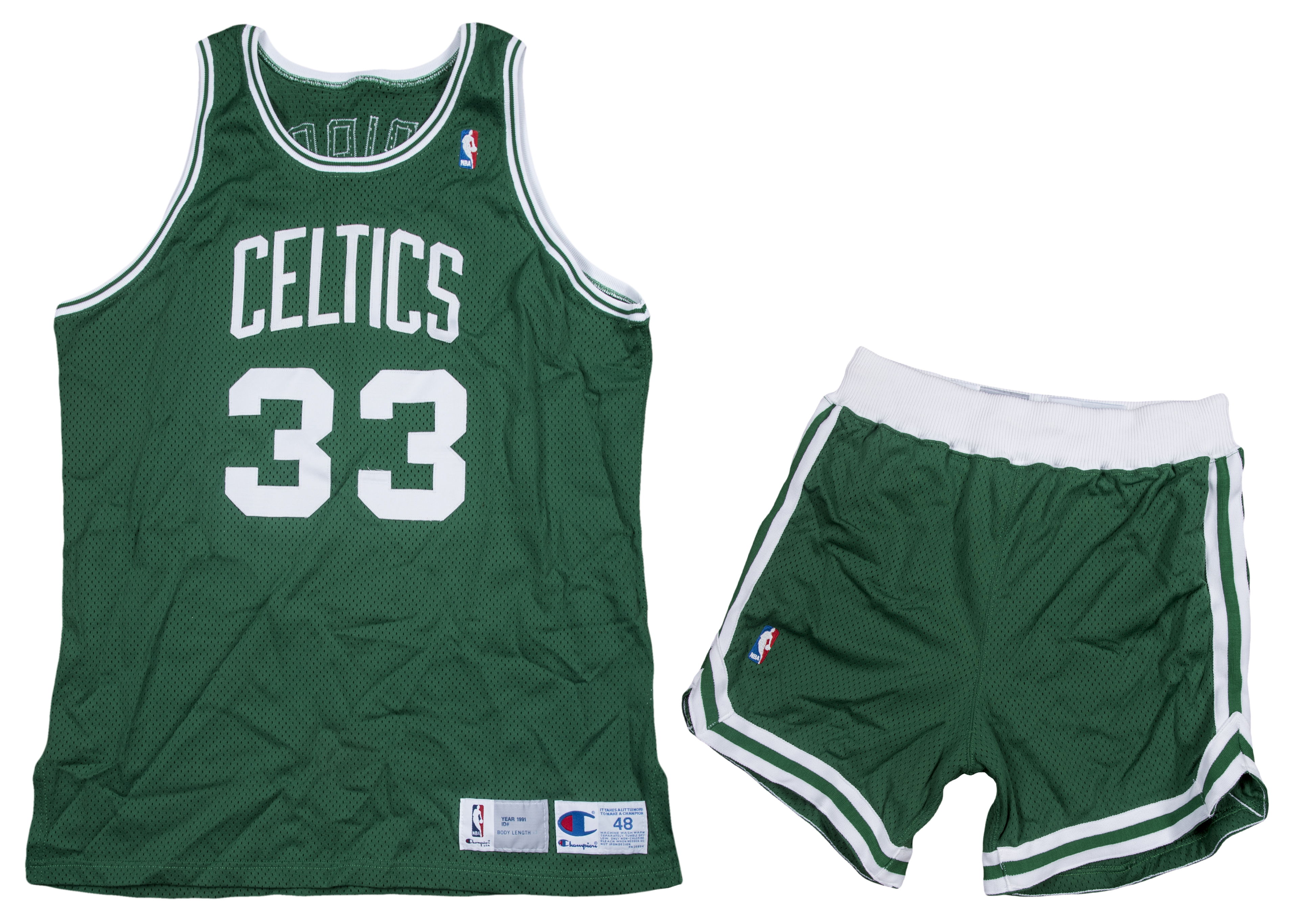 a0ec36260326 1991-92 Larry Bird Game Used and Signed Boston Celtics Final Season Jersey    Shorts (Beckett)