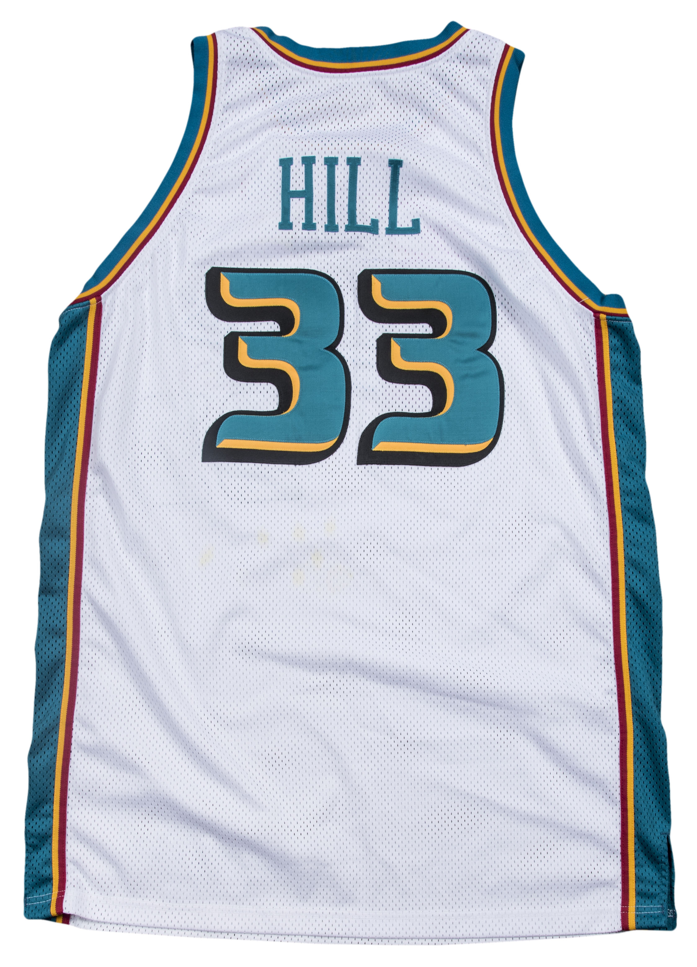 a7a6284bfee 1999-2000 Grant Hill Game Used Detroit Pistons Home Jersey (Pistons  Employee LOA)