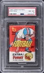 1966 Topps Football Unopened Five-Cent Wax Pack – PSA NM-MT 8