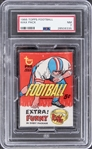 1966 Topps Football Unopened Five-Cent Wax Pack – PSA NM 7