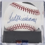 Ted Williams Single Signed OAL Brown Baseball (PSA/DNA MINT 9)