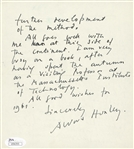 Collection of (4) Authors Signed Memorabilia: Maya Angelou, A.J. Cronin, Aldous Huxley, Leo Buscaglia (JSA)
