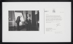 Yousuf Karsh Signed 1989 Typed Correspondence With Photo In 22x13 Framed Display (JSA)