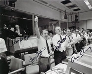 Apollo 13 Launch Celebration 8x10 Multi-Signed Photograph Signed By 4 Flight Controller - Chris Kraft, Glynn Lunney, Gerry Griffin and Eugene Kranz (Beckett)