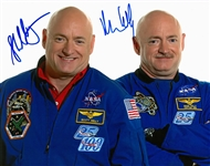 Mark and Scott Kelly Dual Signed 8x10 Photograph (Beckett)