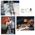 Lot of (4) NASA Astronauts Single/Multi-Signed Photos and First Day Issue Cachet Including Fred Haise, Frank Borman, James Lovell and Story Musgrave (Beckett)