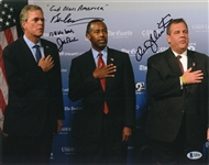 Jeb Bush, Ben Carson and Chris Christie Trio Signed/Inscribed 11x14 Photograph (Beckett)
