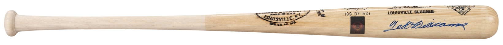 Ted Williams Single Signed Hillerich & Bradsby 521 Diamond Club Commemorative Bat - 199/521 (JSA)