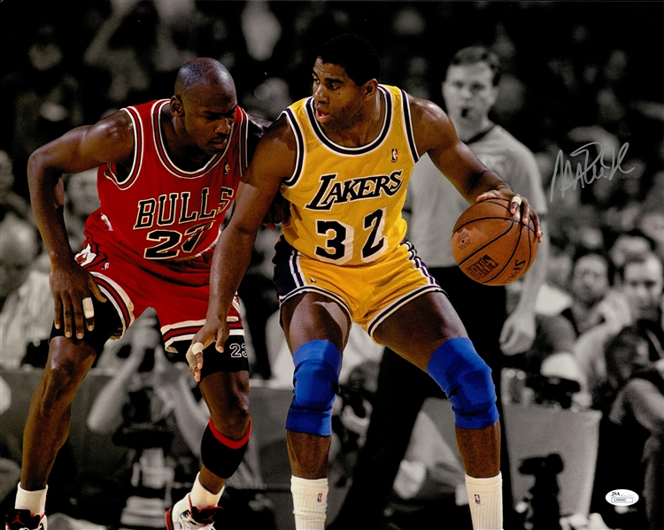 new product aa838 959d8 Lot Detail - Lot of (2) Magic Johnson Autographed 16x20 ...