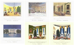 Collection of (6) White House Oversized Official Christmas Card Print (1995-2000)