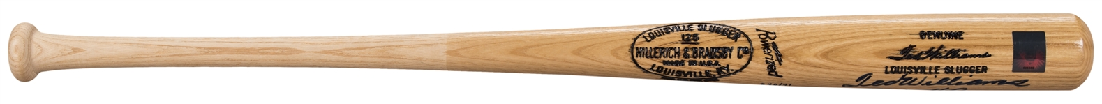 Ted Williams Signed Hillerich & Bradsby W215 Bat With Inscribed Stats (JSA)