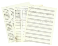 "Lot of (3) Daisy Berkowitz & Marilyn Manson Original Sheet Music/Chord Sheets For ""Thrift"", ""Lunchbox"" & ""Luci in the Sky With Demons"" (Family LOA)"