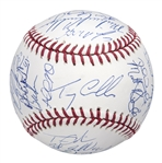 2015 New York Mets Team Signed OML Manfred World Series Baseball With 30 Signatures Including deGrom, Wright & Murphy (PSA/DNA)