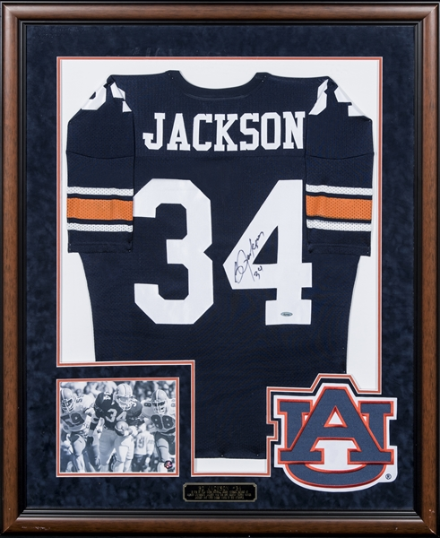 cheap for discount eeb5e 308d4 Lot Detail - Bo Jackson Signed & Inscribed Auburn Tigers ...