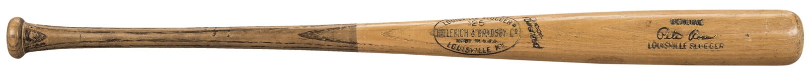 1971-1972 Pete Rose Game Used & Twice Signed Hillerich & Bradsby S222 Model Bat (PSA/DNA GU 8.5 & Beckett)